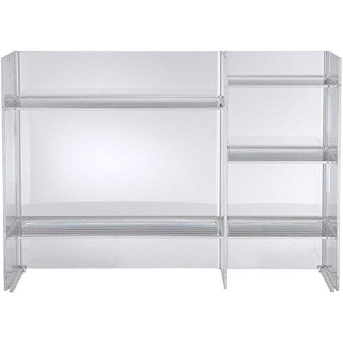 Kartell, Sound-Rack, Mobile Contenitore, Trasparente, 26 x 75 x 53 cm