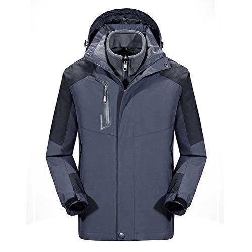 SJZC Veste Coupe Homme Ski Manteau Hommes Blouson De Impermeable Vent Pas Cher Hivers Pluie Survetement023,Gray,XL
