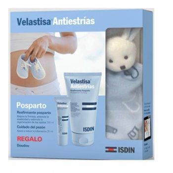Pack Velastisa Reafirmante Post-Parto (150 ml) + Cuidado del pezón (30 ml) + Doudou ISDIN