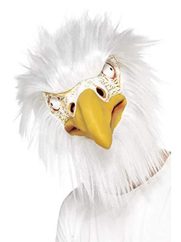 Luxuspiraten - Kostüm Accessoires Zubehör Tier Latex Maske Adler Eagle mit Haaren, perfekt für Karneval, Fasching und Fastnacht, (Zebra Kostüm Haar)