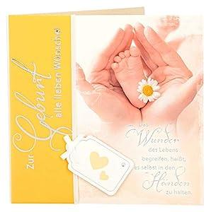 Depesche 4907.050Tarjeta de felicitación Emotions en diseño Elegante, Nacimiento