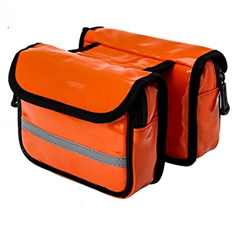 LWJgsa Mountain Bike Tasche U Bahn Fahrrad Armaturen Orange