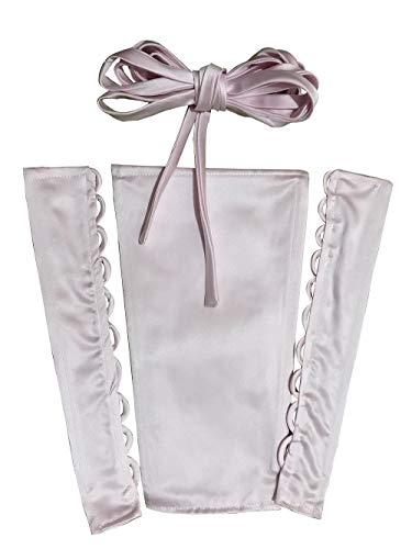 YCShun Damen Hochzeitskleid, Reißverschluss, verstellbar, Satin, Korsett Rücken, Schnürung für...