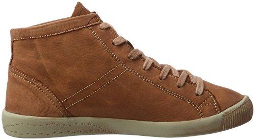 Softinos Isleen Washed, Sneaker a Collo Alto Donna Marrone (Brick)