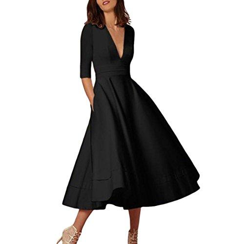 Kanpola Kleider Damen Lange Ballkleid Prom Damen Abend Party Swing Kleid