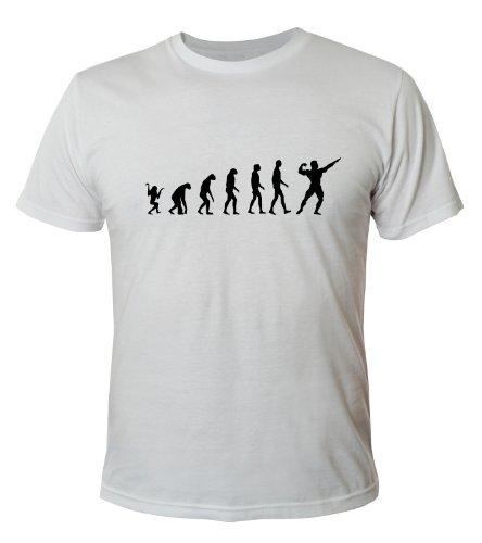 Mister Merchandise Cooles Fun T-Shirt Bodybuliding Evolution Muscle Fitness Weiß