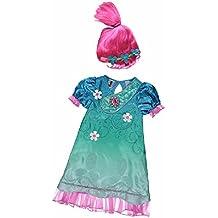 New George Dreamworks Trolls Poppy Fancy Dress Costume Outfit W/ Sound(3-4 years) …