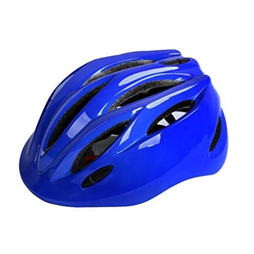 LHY SPORTS SERLES Kinder Sicherer Fahrradhelm, Jugend Mountain Inliner Skateboard Schutzhelm Rollschuhlaufen Farbiger Helm,Schutzhelm für Männer und Frauen,Blue