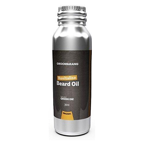 Groomarang beleben Bart Öl - Feuchtigkeitscreme & Conditioner für weiche bärtigen Haar - 100 % natürliche, organische & Vegan 30ml