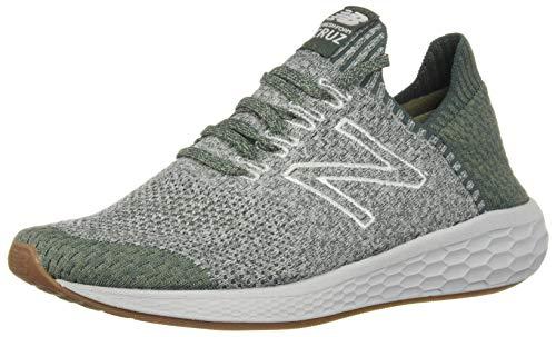 New Balance Herren Fresh Foam Cruz SockFit Sneaker, Grün (Faded Rosin/Rain Cloud/Mineral Green Lg2), 44 EU