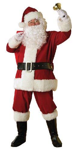 Santa Kostüm Rubies Anzug - Weihnachten Herren Kostüm Weihnachtsmann Nikolaus Deluxe Größe M/L