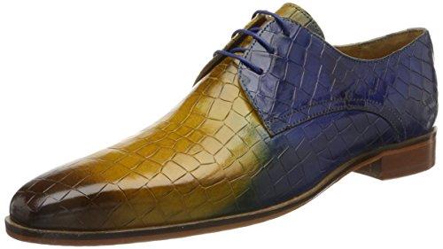 Lace Shades (Melvin & Hamilton Herren Lance 24 Derbys, Mehrfarbig (crock/Shade Dk. Brown/Yellow/E.Blue/LS Nat.), 44 EU)
