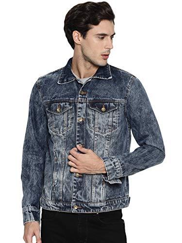 Ojass Full Sleeve Self Design Men Denim Jacket