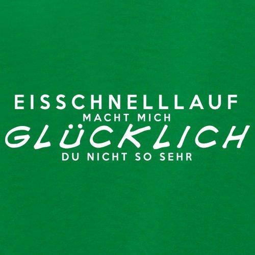 Eisschnelllauf macht mich glücklich - Damen T-Shirt - 14 Farben Grün