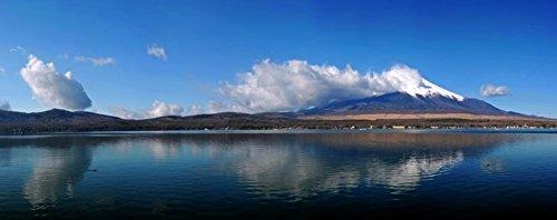 Digitaldruck / Poster Hady Khandani - PANO - MOUNT FUJI AND YAMANAKA LAKE - JAPAN 1 - 275 x 110cm - Premiumqualität - HADYPHOTO, Fotografie - MADE IN GERMANY - ART-GALERIE-SHOPde (Lake Yamanaka Mount Fuji Japan)