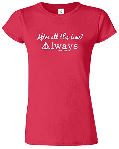 Harry Potter-Frauen-T-Shirt Deathly Hallows Crewneck Top Tee Antik Kirschrot / Weiß Design