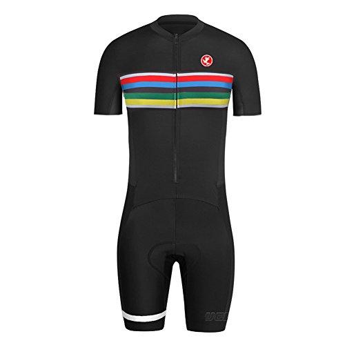 Uglyfrog LJ37 2018-2019 Neue Mountain Bike MTB Herren Triathlon Skinsuit Kurzarmtrikot with Gel Pad Short Jersey+Short Legs - Jacke Balance New Softshell