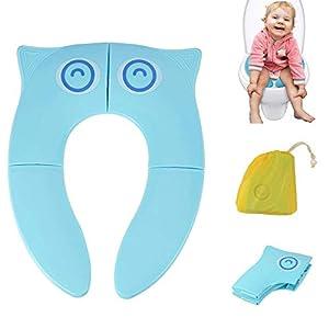 Cymax Asiento Plegable Inodoro Portátil para Niños Bebés, Tapa WC Plegable para Los Niños de Viajes.