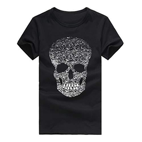Druck-T-Shirts der Männer, Lässige Skull Fashion Shirt Kurzarm T-Shirt Top Bluse Tees Zolimx (Under Armour Punisher)