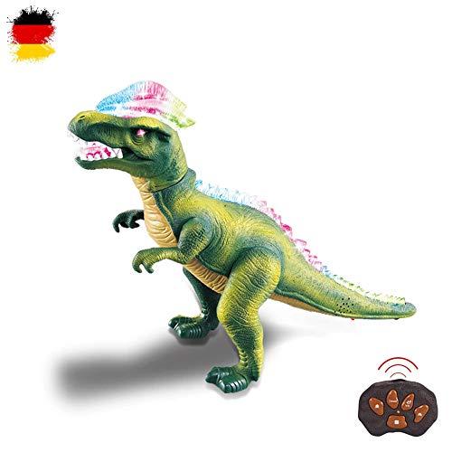 HSP Himoto XXL RC Ferngesteuerter Dinosaurier T-Rex mit Sound, LEDs, realistische Bewegungen, Tanzfunktion inkl. Fernsteuerung (Roboter Kostüm Herz)