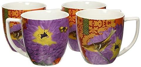 Waechtersbach Accents Impressions Mugs, pivoine rose-Lot de 4