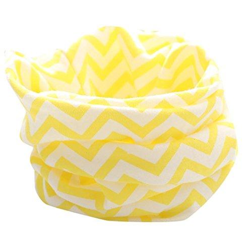 HKFV Herbst Winter Jungen Mädchen Baby Niedlich Schal O-Ring Verpackungs Halstücher Schal Baumwolle O-Ring Hals Schals Neck Scarves (Anzug für 0 bis 3 Jahre alt) (Gelb) (Lycra-o-ring)