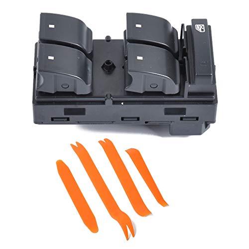 Uzinb Ersatz für Traverse HHR Silverado 1500 Tür Schalter für Fensterheber vorne Links + Demontage-Werkzeug 20945129 (Chevrolet Silverado Fensterheber)