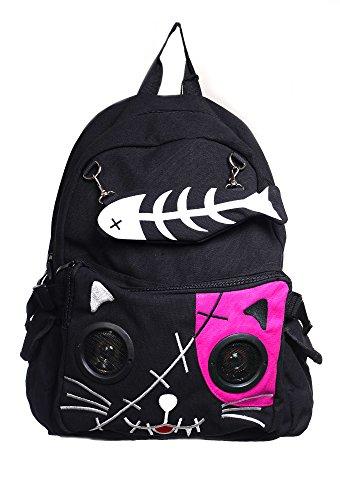 Gebannt Kitty Lautsprecher-Rucksack - Black/Pink / One Size