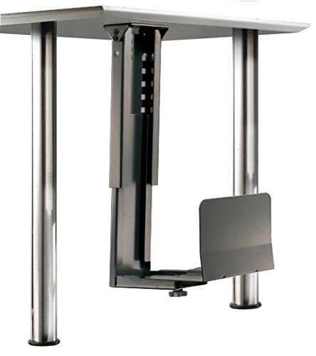 ROLINE PC Halterung | Computerhalterung Untertisch | Tischhalterung in schwarz