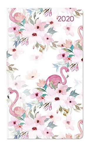 Ladytimer Slim Flamingo 2020 - Taschenplaner - Taschenkalender (9 x 16) - Weekly - 128 Seiten -...