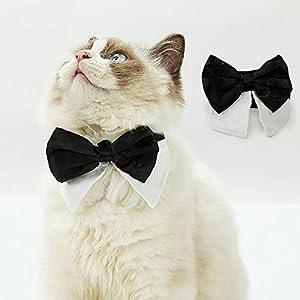 Decdeal Nœud Papillon pour Chien, Collier de Foulard en nœud Papillon Gentleman Cravate pour Animal Domestique, déguisement pour Chien Chat
