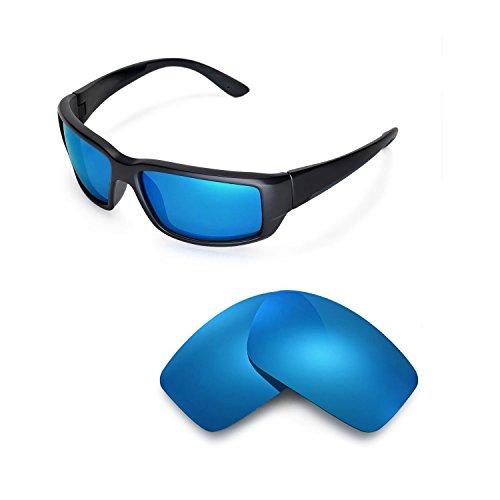 Walleva Ersatzgläser für Costa Del Mar Fantail Sonnenbrille - Mehrfache Optionen (Eisblau - Polarisiert)