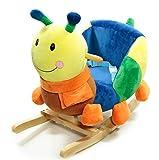 Schaukeltier Schaukelpferd süße Raupe mit Sitz für Kleinkinder