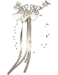Coiffe de communion avec fleur et perle pour fille