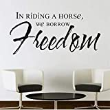 Mhdxmp In Riding A Horse Prendiamo In Prestito La Libertà Art Wall Sticker Camera Da Letto Sfondo Rimovibile Home Decor Impermeabile Art Decal   94 * 44 Centimetri