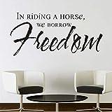 Mhdxmp In Riding A Horse Prendiamo In Prestito La Libertà Art Wall Sticker Camera Da Letto Sfondo Rimovibile Home Decor Impermeabile Art Decal94 * 44 Centimetri