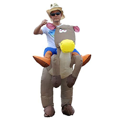 Bestbuy_2018 Aufblasbares Kostüm für Erwachsene Dinosaurier, Aufblasbarer Kostümanzug für Kinderpferde Cowboy Halloween Sprengkostüme, Einheitsgröße (Spiderman Kostüm Fantastic 4)