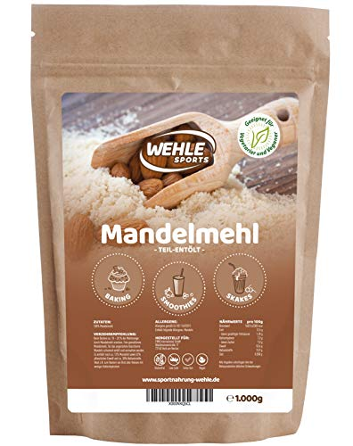 Mandelmehl 1kg teil-entölt - Mandelprotein Weizenmehl-Alternative