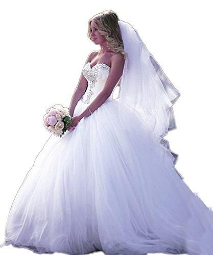 CoCogirls Süß Kristall Prinzessin Ballkleid Hochzeitskleid Strass Brautkleider Hochzeit Kleid...