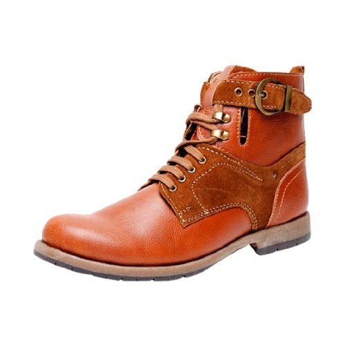 Bacca Bucci Men's Tan Synthetic Casual Shoes Boots (kh-LG-tan-002 ) UK 9