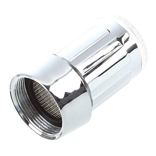 SODIAL(R) bunte LED Wasserhahn Leuchtender LED Licht Wasserhahn mit Temperatursensor Farben(Gruen/Rot/Blau),Wasser-Strom-Hahn 3 Farben durch Wasserdruck (bunten LED Wasserhahnfilter) - 3