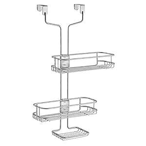 interdesign linea badregal zum h ngen verstellbare duschablage aus metall silberfarben amazon. Black Bedroom Furniture Sets. Home Design Ideas