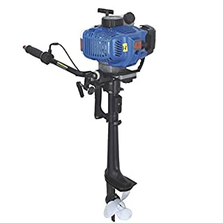 OUKANING Outboard Engine Motor 2HP 3.5HP Wind Cooling Marine Motor for Boat Copy Dinghy Kayak Inflatable Boat