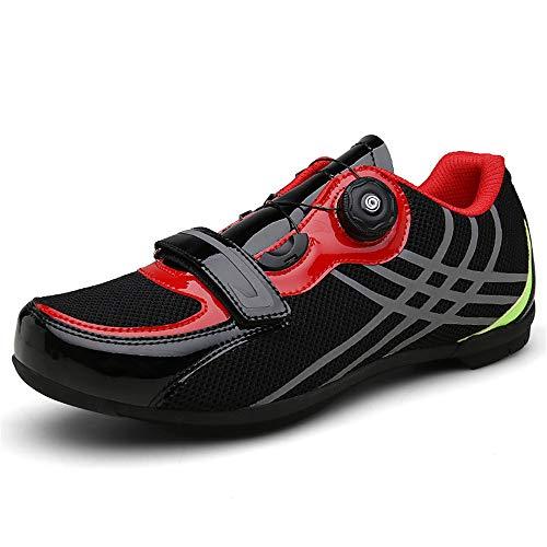 Scarpe da Ciclismo da Uomo, Scarpe da Ciclismo da Strada Traspiranti Scarpe Anti-Scivolo per Mountain Bike Unisex,Black,43
