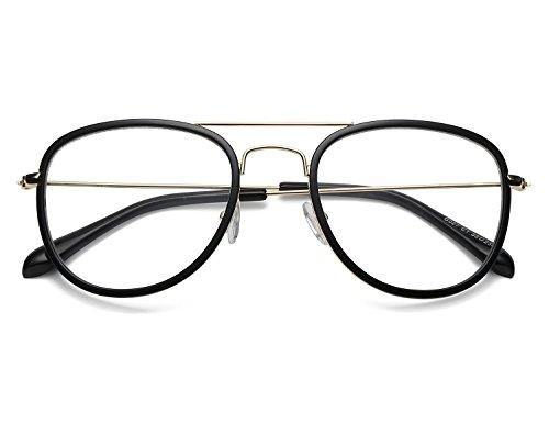 Bmeigo Optischer Rahmen Klassische Mode Brillen Klare Linse Gläser für Frauen und Männer