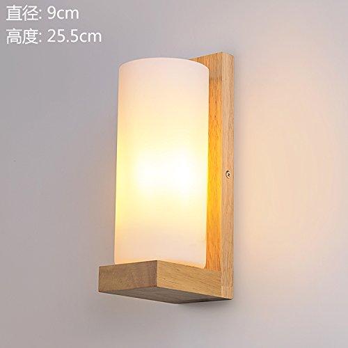 CACH Lampada Da Parete Di Moderno Stile Cinese Tinta Legno Soggiorno Corridoio,Rotondo