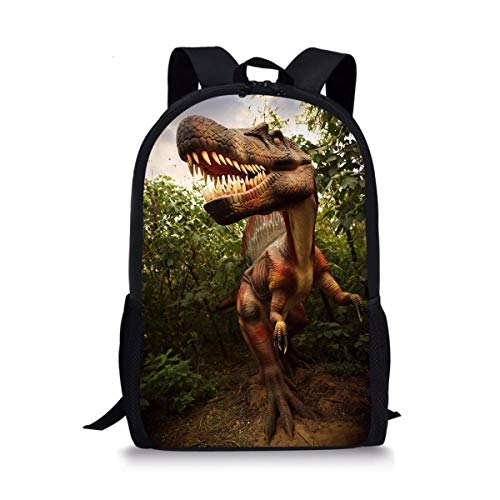 spArt heißer Schule-Rucksack für jugendlich Mädchen Jungen-Dinosaurier-Tasche für Schule Go Wandern Allosaurus Printed