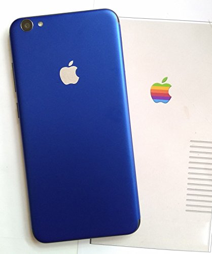 GADGETS WRAP Limited Series Blue Matte Back Skin iPhone Design with Apple Logo for Vivo V5 Plus.