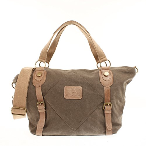 Bagdepot Weekender Reisetasche Handgepäck Damen Herren Canvas Leder Shopper 45x33x15cm braun