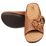 XE Looks Doctor Sole Comfortable Orthopedic Slippers for Women (Tan)